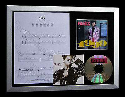 Prince 1999 Gallery Quality Music Cd Framed Display+Express Global Ship