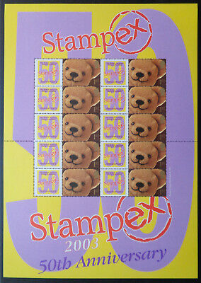 Stampex Autumn 2003 GB Business Smilers Sheet - BC011   MNH