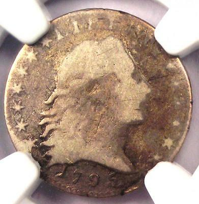 1795 Flowing Hair Half Dime H10C LM-10 - NGC VG Details - Rare Certified Coin!