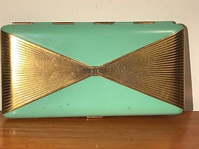 Vintage Art Deco Powder Compact Called 'Shari' By Langlois