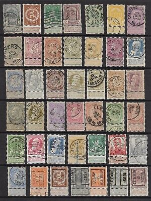 "Belgium Early With ""do Not Deliver On Sunday Labels"" 44 Stamps Mint And Used."
