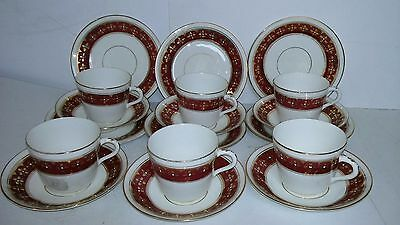 18 piece Red and Gold Teaset
