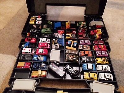 Micro Machines truck carry case and about 46 cars