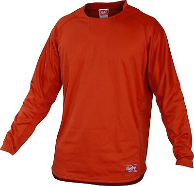 (X-Large, Burnt Orange) - Rawlings Youth Dugout Fleece Pullover