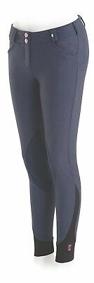(32 Regular, Blue) - Tredstep Rosa Ladies Knee Patch Breech. Tredstep Ireland