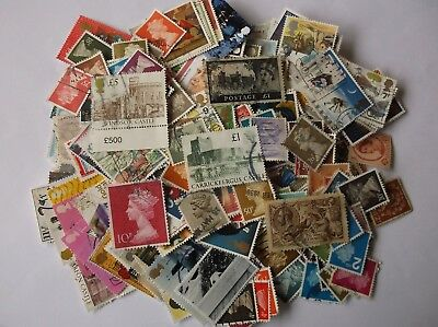GB Stamps 300+ all different incl higher values