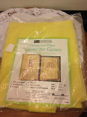 VTG Sealed Grants Fortrel polyester  Perm. Press Tailored Tier Curtain 82 X 36