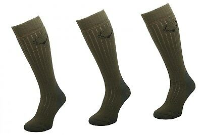 (SMW6 Khaki, 39-42) - COMODO® SMW - Set of 3 Pairs Hunting Socks (40% Merino