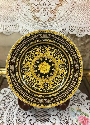 """Rosenthal Versace Floralia Gold Collector Wall Decorative Plate 8"""""""