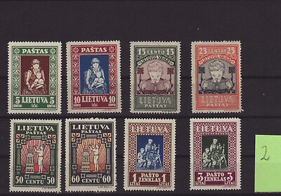 Lithuania Litauen 1933 Mi 364-371 SC 277C perforated MNH CV 45 eur (02)