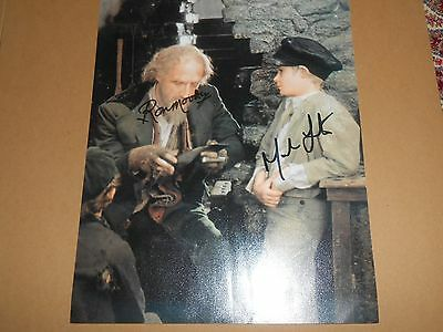 Ron Moody and Mark Lester OLIVER *SIGNED* 8x10 Autographed Photo