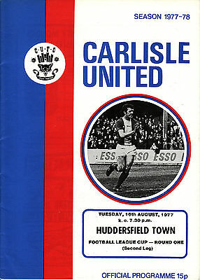 77/78 Carlisle United v Huddersfield Town League Cup