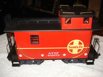 Usa Trains / Bachmann G Gauge Santa Fa Wagon With Lights