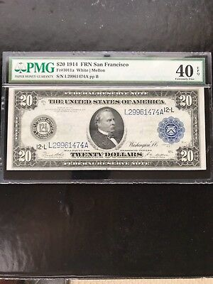 $20 1914 Federal Reserve Note Ef40 Epq .....