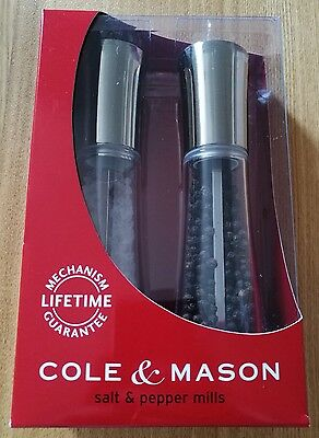 NEW Cole & Mason Salt Pepper Mills Kitchen Accessories Chrome Homeware Gift Set