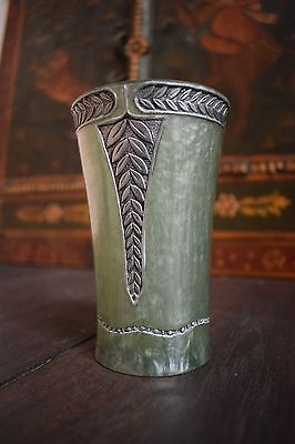 antique cup, horn?