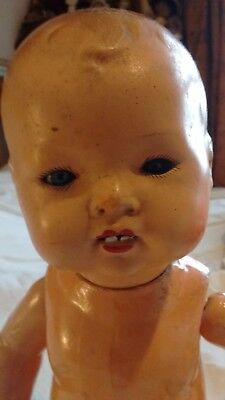 TLC for restoration/ parts Antique/vintage baby doll with sleeping glass eyes