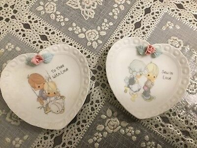 "Vintage Precious Moments ""Sew In Love""  and ""To The with love"" plates"