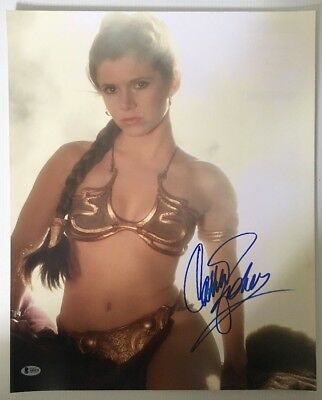 Carrie Fisher Signed Autographed Princess Leia 16x20 Photo Star Wars BECKETTCOA