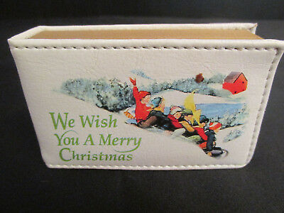 Small Book Shaped Music Box - We Wish You a Merry Christmas