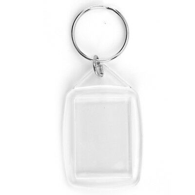 Clear Blank Acrylic Photo Keyring Insert Personalise 45mm X 35mm Plastic Size