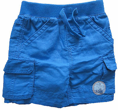 New Baby Boys Marks & Spencer Blue Linen Shorts Age 6-9 Months