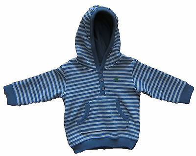 New Marks & Spencer Baby Boys Blue & White Jumper / Hoodie Age 3 - 6 Months