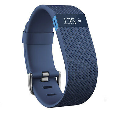 Fitbit Charge HR strap in Blue - SMALL - WITH BUCKLE - Posted from the UK