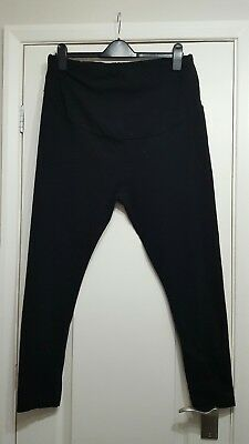 Peacocks over the bump black stretchy maternity leggings size 20