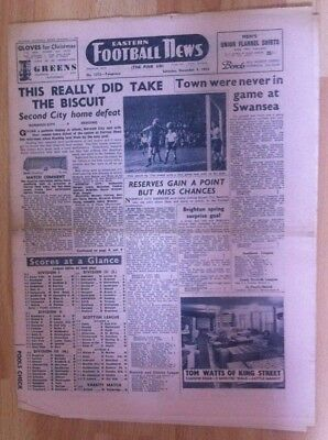 Eastern Football News (Pink Un) Norwich City v Reading - 4th December 1954