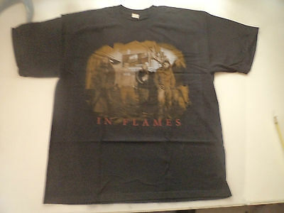 IN FLAMES  Unused T SHIRT metal death heavy gothic lp cd hypocrisy at the gates