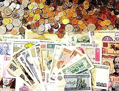 50 World Foreign Coins & 50 Different World MINT  Banknotes,Free Shipping To U.S