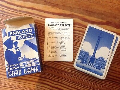 Vintage England Expects WWII Naval Card Game