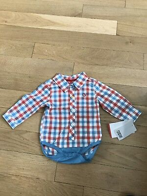 Mamas and Papas baby boy Checked Shirt 3-6 Months