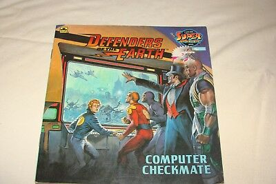DEFENDERS of the EARTH, Computer Checkmate, SC 1986, Super Adventure Book