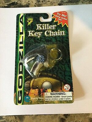 1998 New In Package GODZILLA Killer Key Chain Equity Toys
