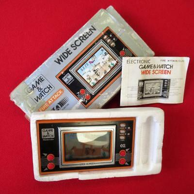 Vintage Nintendo Fire Attack Game & Watch - Original Box & Instructions - Tested