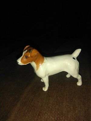 Lovely Vintage Beswick Dog Figure :~ Jack Russell Terrier