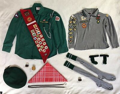 Vintage Boy Scouts and Wolf Cubs of Canada Uniforms incl. badges and accessories