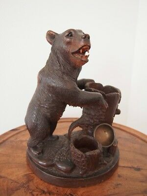 Black Forest Swiss Carving Large Bear 12 1/2""
