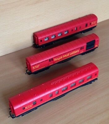 Hornby Royal Mail MK1 Coaches x 3 ( Night Mail )