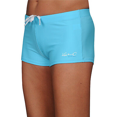 iQ UV 300 Hot Pants Slim Fit Women Damen XXS - XL turquoise türkis Bikini Sport