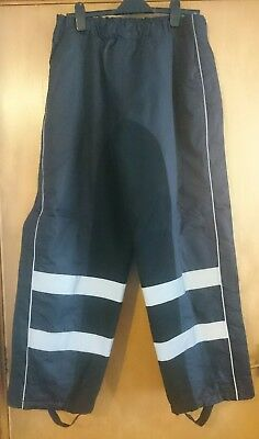 Harry Hall waterproof safety reflective warm winter over trousers size XL