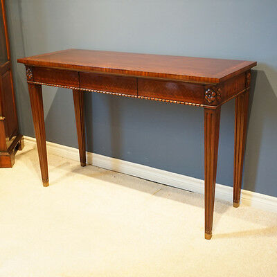 Beautiful Mahogany Inlayed Wall Console
