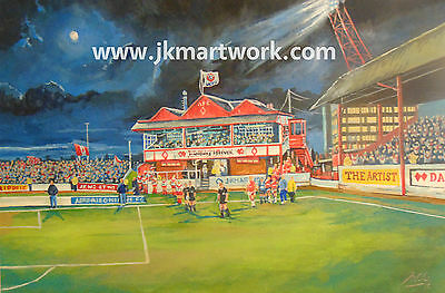 Broomfield Park Pavilion Stadia Art A4 Print - Airdrieonians FC