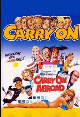 "Super 8 ""Carry On Abroad"" 2x600ft Reels Colour/sound Very Rare Indeed."