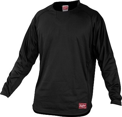 (Small, Black) - Rawlings Youth Dugout Fleece Pullover. Rawlings Sporting Goods