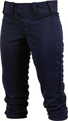 (2X, Navy) - Rawlings Sporting Goods Womens Low-rise Belted Pant; 150 Cloth