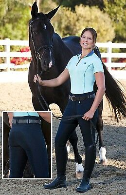 (34 Regular, Dark Chocolate) - Romfh Ladies Champion 3-Button Full Seat Breech