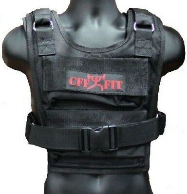 CFF Weighted Short Vest (Shell Only - Up to 16kg Capacity)- Great for Cross